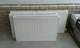 3 central heating radiators