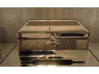 Brand new mirrored jewellery box