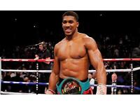 Anthony Joshua fight tickets 4 available ! Floor section near ring