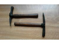 roofing hammers x 2 wooden shaft