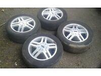 "Ford focus mondeo 4 stud oem 15"" alloy wheels ghia 4 x 108"