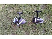 2 course spinning reels.