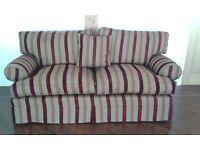 Multiyork Teddington Large 2-3 Seater Sofa Burgundy & Gold Stripe