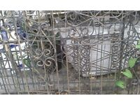 3 Sections of wrought iron railings.