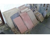 Marshalls Sandstone Paving slabs - roughly 3/4 of project pack.