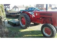 International b275 tractor plus major 601 topper.