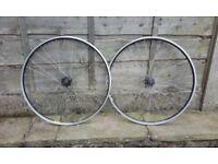 NEW bearings included- Formula / Mavic fixed gear wheels 700c pair