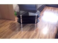 Black glass TV stand/coffee table and delivery