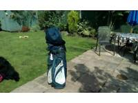 Golf bag and clubs £10