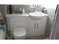 Wickes Vienna (white) Bathroom vanity 600mm and wc unit 600mm
