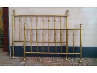 Solid brass Double Divan Bed Surround