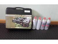 Portable Gas Range and butane gas bottles