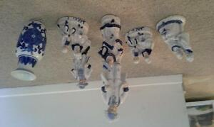set of blue and white figurines seperate or as a set Kingston Kingston Area image 1
