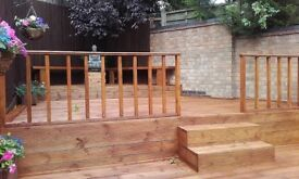 Professional landscaping : decking, patios, turfing, driveway, fencing