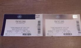 The Killers, x2 tickets (seating), 02 London (£200 for the pair)