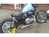Cust Bobber Kawasaki en500 1993 Belt Drive One of the coolest bikes in town.