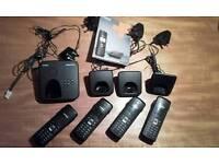 Exc. Cond Siemens GIGASET quad set cordless phones with answerphone