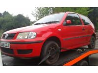 2000 Volkswagen Polo MK3 1.0 E 3dr red LP3G ALD ESY BREAKING FOR SPARES
