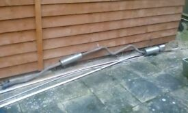 Stainless steel Citroen Saxo exhaust (cat back)