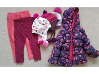 CLOTHES BUNDLE WITH PADDED ANORAK AS NEW AGE 2-3 ( 6 ITEMS )