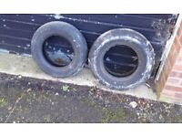 Two old tyres for garden etc