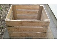 6 large wooden Apple Crates