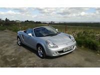 Toyota MR2 Mk3, 2005 Convertible, Low Mileage. Excellent condition