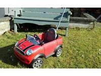 Mini Cooper Toddlers Car
