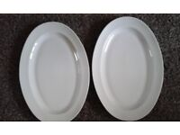 2 French Limoges Serving Platters