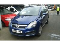 2006 Vauxhall Zafira 1.6 Expression 5dr ultra blue 21b BREAKING FOR SPARES
