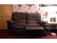 3 Piece reclining leather suite. Brown. Buyer picks it up