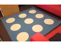 GREAT OFFER! Square White and Blue Carpet, 170x170 cm, very good conditions, CHEAP