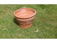 Large clay garden pot