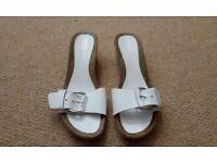 White size 6 sandals