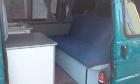 Rock and roll full width bed frame and memory foam cushions to fit t4/t25 or van conversion