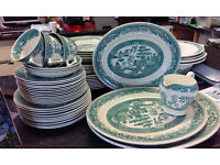 FENTON-Tableware - Victorian Tableware-Green Willow