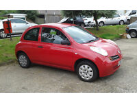 Red Nissan Micra Automatic 2003 MOT and Low Milaege