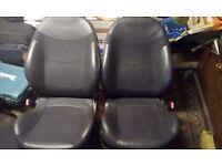 BMW mini convertible half leather car seats car seats