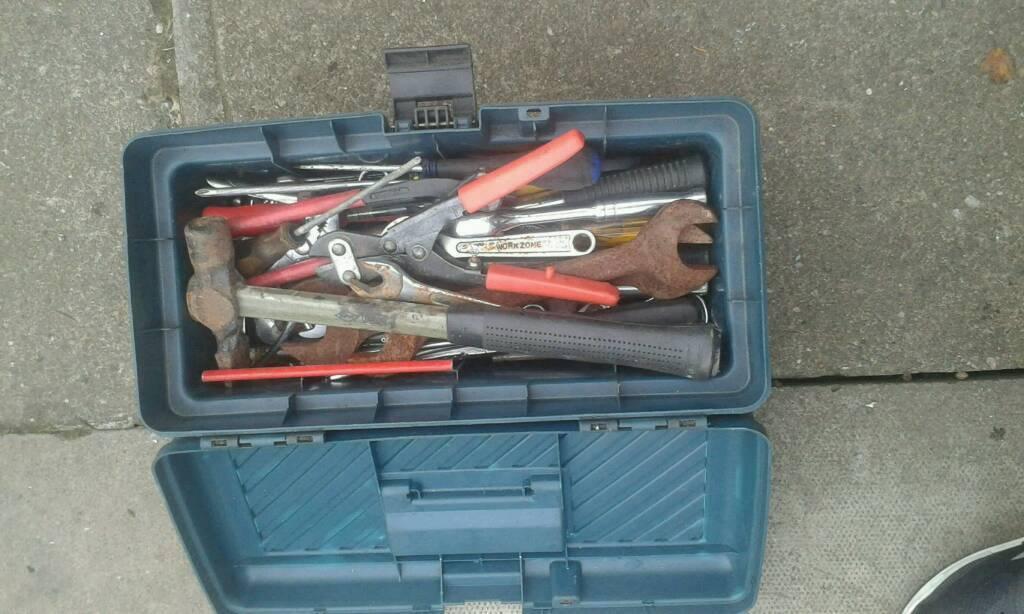 Box of mixed tools