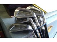 Yamaha Accurace right handed 8 iron set, graphite shafts, gradual offset,perimeter weighted.