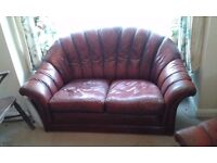Leather 2 piece suite, free to collect.