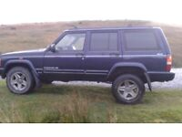 1998 Jeep Cherokee XJ 2.5 TD. Rebuilt Engine, New Starter Motor, Sills, Rear Suspension etc