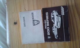 rover 200series data books