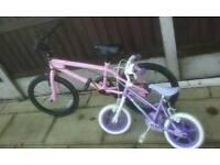 2 girls bike in excellent condition