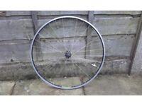 Front road bike wheel campagnolo hub with mavic MA3 rim 700c 622-15 excellent