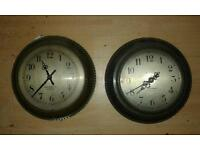 Pair of Antique Magneta Electric Clocks