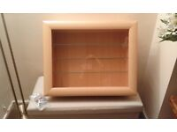 Display cabinet with 5 glass shelves