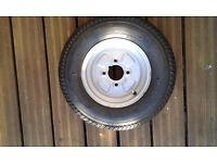 145x10 trailer wheel & tyre 4pr as new and unused