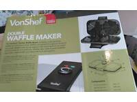 Bnib double waffle maker. Never used