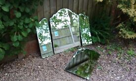 Set of Four Vintage Reclaimed Mirrors